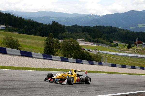 2014 FIA European F3 Championship Round 8 - Red Bull Ring, Austria. 31st July - 2nd August 2014 Tom Blomqvist (GBR) Jagonya Ayam with Carlin Dallara F312 ? Volkswagen World Copyright: XPB Images / LAT Photographic  ref: Digital Image 3250797_HiRes