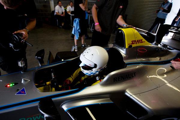 FIA Formula E Test Day, Donington Park, UK.  3rd - 4th July 2014.  Christian Danner. Photo: Malcolm Griffiths/FIA Formula E ref: Digital Image A50A3138