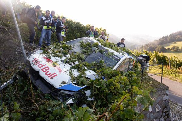 2014 World Rally Championship Rallye Deutschland 21-24 th August 2014 Jari-Matti Latvala, VW WRC, Accident Worldwide Copyright: McKlein/LAT