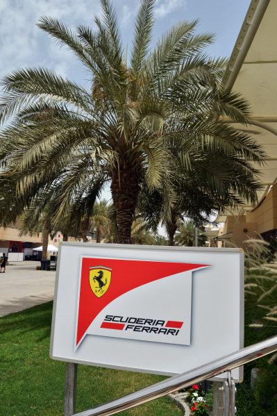 Ferrari team building.Formula One World Championship, Rd4, Bahrain Grand Prix Preparations, Bahrain International Circuit, Sakhir, Bahrain, Thursday 18 April 2013.