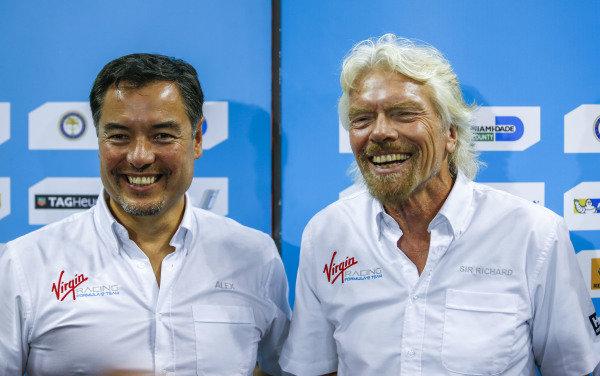 Sir Richard Branson and Alex Tai, team Principal of Virgin Racing at Formula E Championship, Rd5, Miami, Florida Saturday Race, 14 March 2015.