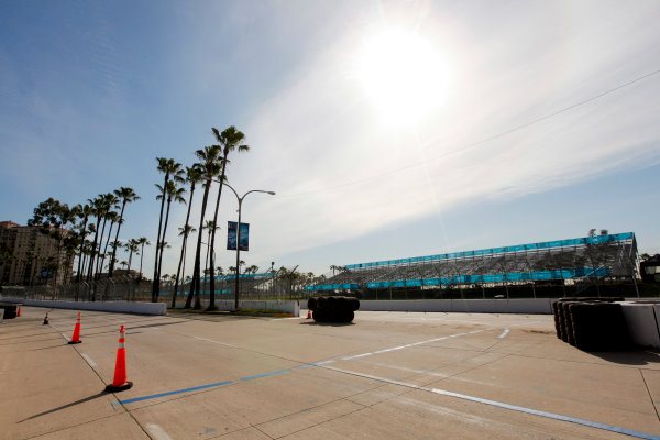2014/2015 FIA Formula E Championship. Long Beach ePrix, Long Beach, California, United States of America. Friday 3 April 2015 View of the track. Photo: Zak Mauger/LAT/Formula E ref: Digital Image _MG_5107