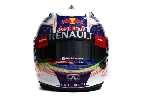 Albert Park, Melbourne, Australia. Helmet of Daniel Ricciardo, Red Bull Racing.  Thursday 12 March 2015. World Copyright: LAT Photographic. ref: Digital Image 2015_Helmet_043