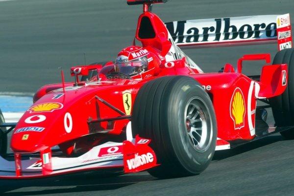 Michael Schumacher (GER) Ferrari F2002.German Grand Prix, Hockenheim, Germany, 28 July 2002.DIGITAL IMAGE