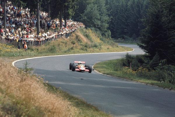1969 German Grand Prix.Nurburgring, Germany. 1-3 August 1969.Joakim Bonnier (Ecurie Bonnier/Lotus 49B Ford).Ref-69 GER 22.World Copyright - LAT Photographic