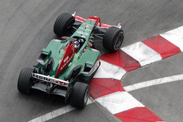 2004 Monaco Grand Prix - Thursday Practice, Monte Carlo, Monaco. 20th May 2004. Christian Klien, Jaguar R5, action.World Copyright: Steve Etherington/LAT Photographic ref: Digital Image Only