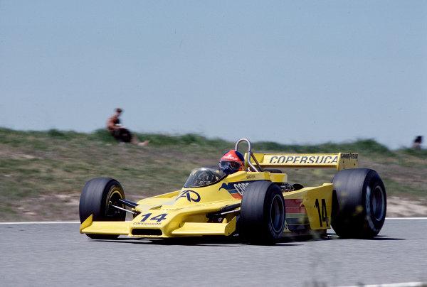 1979 Spanish Grand Prix.Jarama, Madrid, Spain.27-29 April 1979.Emerson Fittipaldi (Fittipaldi F5A Ford) 11th position.Ref-79 ESP 27.World Copyright - LAT Photographic