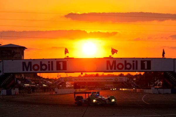 Sebring 12 Hours, Florida. 17th - 20th March 2010. David Brabham / Simon Pagenaud / Marino Franchitti, (Patron Highcroft Racing, Honda Performance Development ARX - 01C). Action. Atmosphere. World Copyright: Drew Gibson/LAT Photographic.ref: Digital Image _Y8P4472