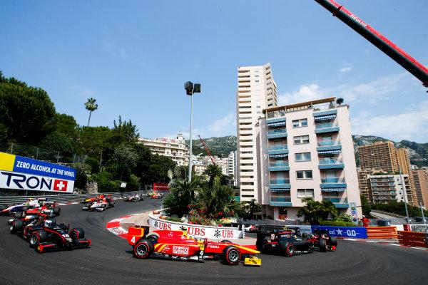 2017 FIA Formula 2 Round 3. Monte Carlo, Monaco. Friday 26 May 2017. Start of the Formula 2 Race Photo: Joe Portlock/FIA Formula 2. ref: Digital Image _L5R8644