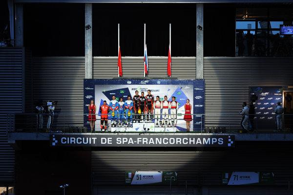 2017 FIA World Endurance Championship. Spa-Francorchamps, Belgium, 4th-6th May 2017. P2 Podium, #26 G-Drive Racing Oreca 07 Gibson: Roman Rusinov, Pierre Thiriet, Alex Lynn win  World Copyright: JEP/LAT Images