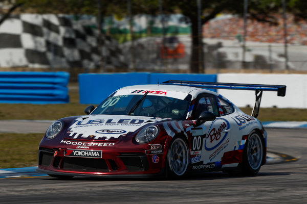 2017 Porsche GT3 Cup USA Sebring International Raceway, Sebring, FL USA Friday 17 March 2017 00, Corey Fergus, GT3P, USA, 2017 Porsche 991 World Copyright: Jake Galstad/LAT Images ref: Digital Image lat-galstad-SIR-0317-14852