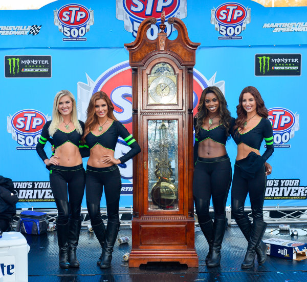2017 Monster Energy NASCAR Cup Series STP 500 Martinsville Speedway, Martinsville, VA USA Sunday 2 April 2017 Monster Girls in victory lane World Copyright: Logan Whitton/LAT Images ref: Digital Image 17MART1LW2813