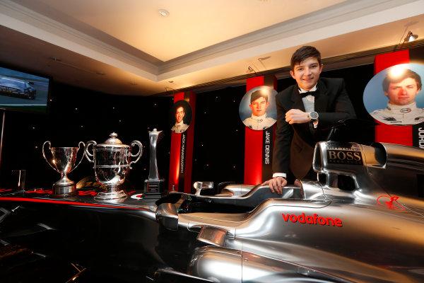 Sunday 2nd December 2012  2012 McLaren Autosport BRDC Young Driver of the Year Award winner Jake Dennis. World Copyright:Glenn Dunbar/  ref: Digital Image _89P1135