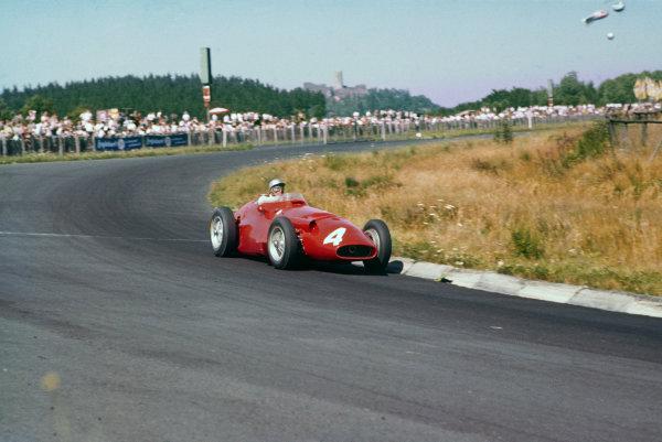 Nurburgring, Germany. 2-4 August 1957. Giorgio Scarlatti, Maserati 250F, 10th position. Ref: 57GER11. World Copyright - LAT Photographic