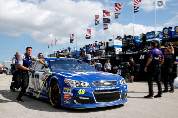 Monster Energy NASCAR Cup Series Ford EcoBoost 400 Homestead-Miami Speedway, Homestead, FL USA Friday 17 November 2017 Jimmie Johnson, Hendrick Motorsports, Lowe's Chevrolet SS World Copyright: Matthew T. Thacker LAT Images