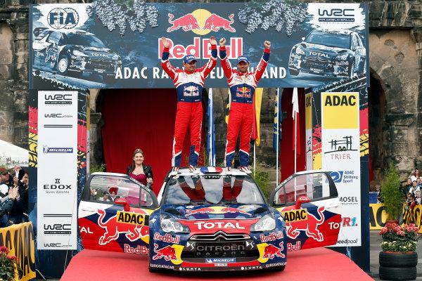 Round 09-Rallye Deutschland 23-26/8-2012.Sebastien Loeb, Daniel Elena, Citroen WRC, Podium.Worldwide Copyright: McKlein/LAT