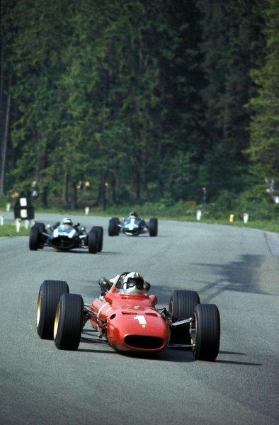 Chris Amon (NZL) Ferrari 312, 3rd place. Formula One World Championship, Rd4, Belgian Grand Prix, Spa Francorchamps, Belgium. 18 June 1967. BEST IMAGE