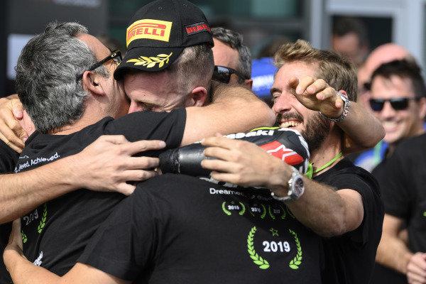 Jonathan Rea, Kawasaki Racing Team celebrates his 5th world title.