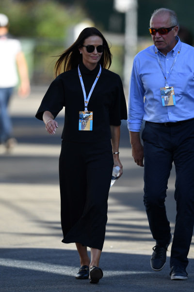 Minttu Virtanen (FIN) wife of Kimi Raikkonen (FIN) Ferrari at Formula One World Championship, Rd13, Belgian Grand Prix, Race, Spa Francorchamps, Belgium, Sunday 28 August 2016.