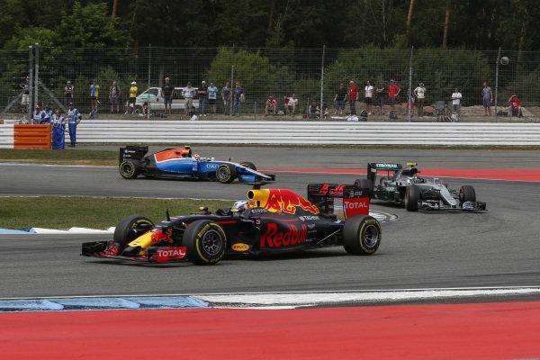 Daniel Ricciardo (AUS) Red Bull Racing RB12 at Formula One World Championship, Rd12, German Grand Prix, Race, Hockenheim, Germany, Sunday 31 July 2016.