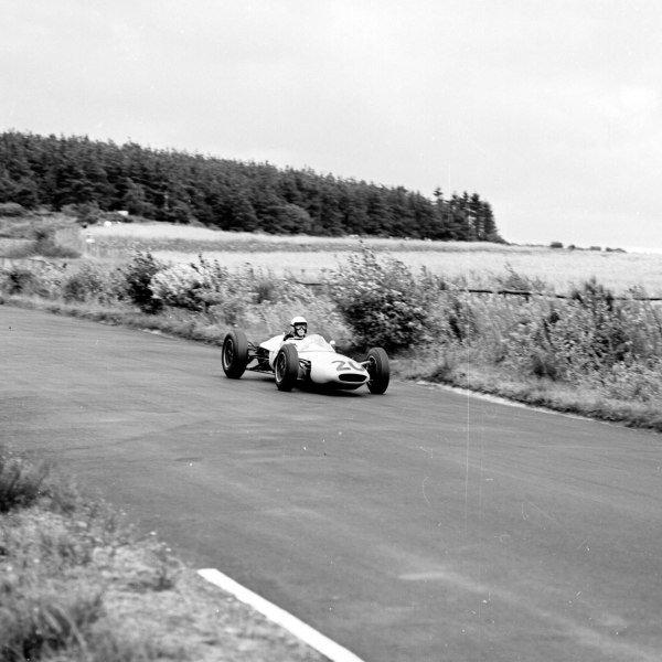 1963 German Grand Prix.Nurburgring, Germany.2-4 August 1963.Jim Hall (Lotus 24 BRM) 5th position.Ref-20644.World Copyright - LAT Photographic