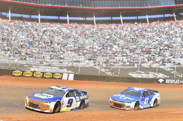 #9: Chase Elliott, Hendrick Motorsports, Chevrolet Camaro NAPA Auto Parts, #47: Ricky Stenhouse Jr., JTG Daugherty Racing, Chevrolet Camaro Kroger