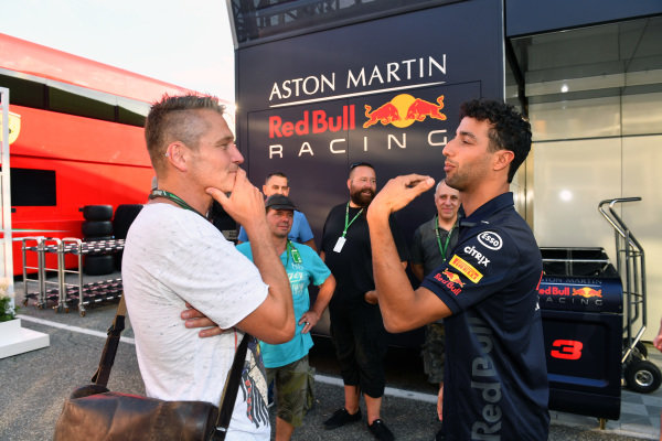 Daniel Ricciardo (AUS) Red Bull Racing with the staff of JMD Design