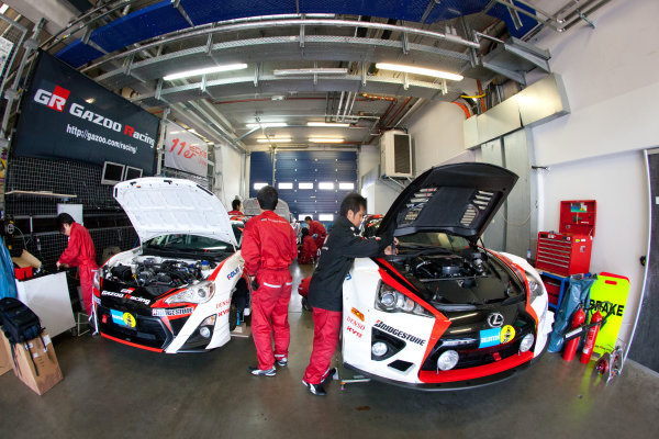 Gazoo Racing garage area