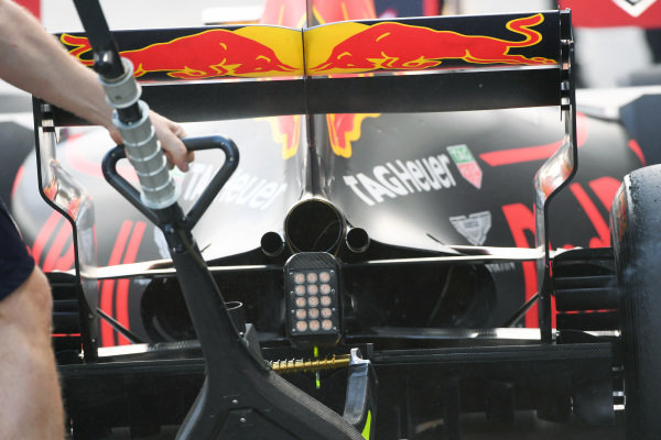 Red Bull Racing RB13 rear at Formula One World Championship, Rd1, Australian Grand Prix, Qualifying, Albert Park, Melbourne, Australia, Saturday 25 March 2017.