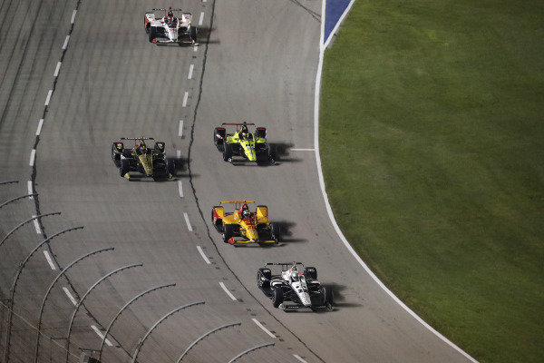 Simon Pagenaud, Team Penske Chevrolet, Ryan Hunter-Reay, Andretti Autosport Honda