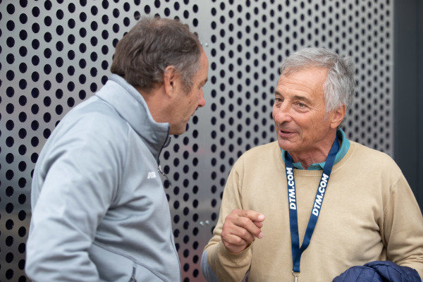 ex-F1 drivers Gerhard Berger and Riccardo Patrese