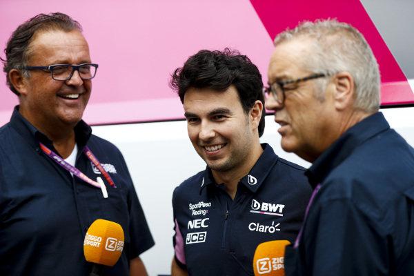 Sergio Perez, Racing Point speaks to the media