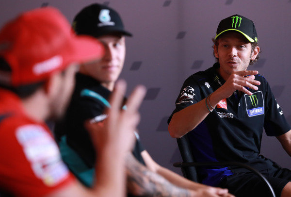 Andrea Dovizioso, Ducati Team,  Valentino Rossi, Yamaha Factory Racing.