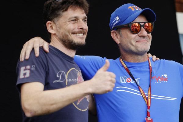 Giancarlo Fisichella (ITA) Borland Racing Developments, and Rubens Barrichello (BRA) Team BRM