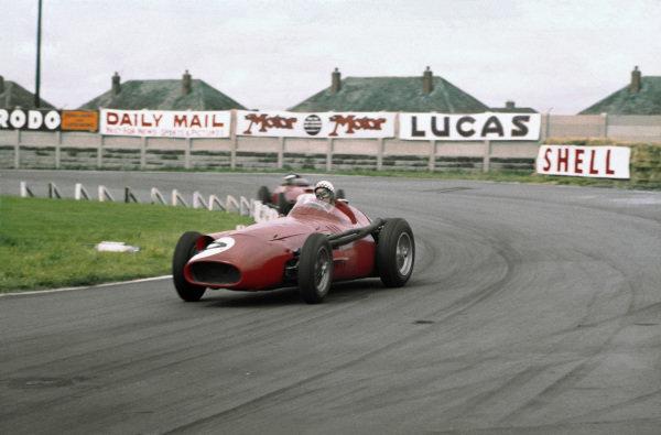 Aintree, England. 18-20 July 1957. Jean Behra (Maserati 250F). Ref-57 GB 08. World Copyright - LAT Photographic
