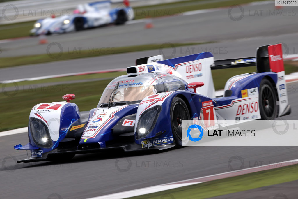2013 FIA WEC Championship, Silverstone, Northamptonshire. 12th - 14th April 2013. Alexander Wurz / Nicolas Lapierre Toyota Racing TS030 World Copyright: Ebrey / LAT Photographic.