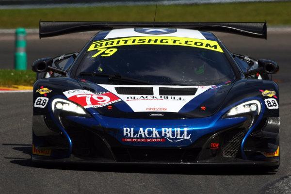 2016 British GT Championship, Spa-Francorchamps, Belgium. 8th - 9th July 2016. Alasdair McCaig / Rob Bell Black Bull Ecurie Ecosse McLaren 650S GT3. World Copyright: Ebrey / LAT Photographic.