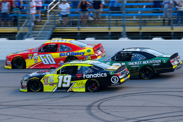 NASCAR XFINITY Series U.S. Cellular 250 Iowa Speedway, Newton, IA USA Saturday 29 July 2017 Matt Tifft, Surface / Fanatics Toyota Camry, Ty Majeski, Bit O Honey Ford Mustang and Daniel Hemric, Smokey Mountain Herbal Snuff Chevrolet Camaro World Copyright: Russell LaBounty LAT Images