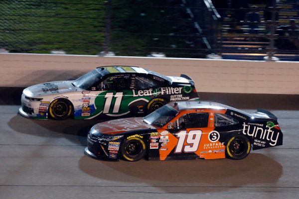 NASCAR XFINITY Series American Ethanol E15 250 presented by Enogen Iowa Speedway, Newton, IA USA Saturday 24 June 2017 Matt Tifft, Tunity Toyota Camry and Blake Koch, LeafFilter Gutter Protection Chevrolet Camaro World Copyright: Russell LaBounty LAT Images
