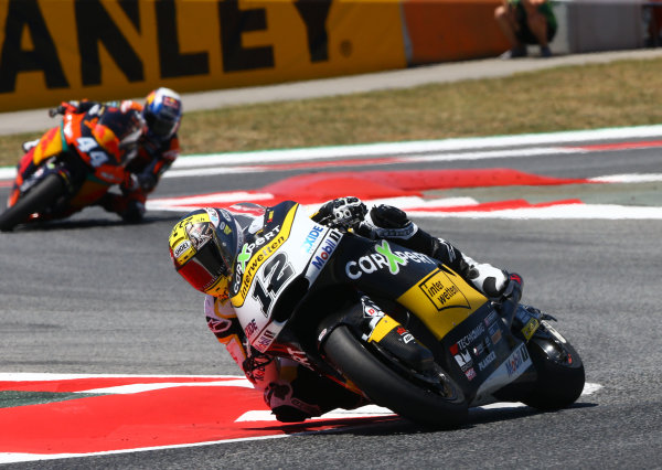 2017 Moto2 Championship - Round 7 Circuit de Catalunya, Barcelona, Spain Sunday 11 June 2017 Thomas Luthi, CarXpert Interwetten race World Copyright: Gold & Goose Photography/LAT Images ref: Digital Image 677485