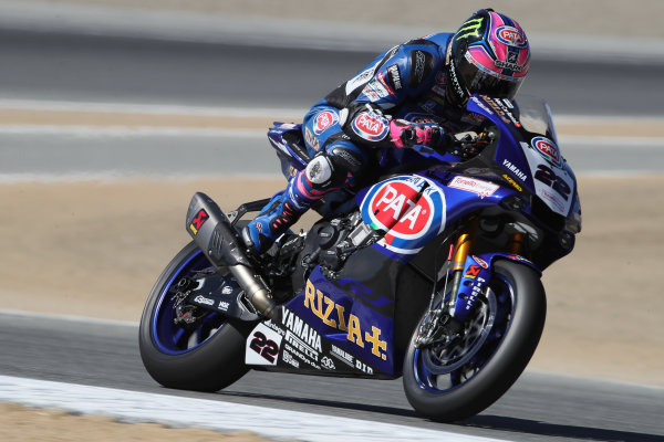 2017 Superbike World Championship - Round 8 Laguna Seca, USA. Friday 7 July 2017 Alex Lowes, Pata Yamaha World Copyright: Gold and Goose/LAT Images ref: Digital Image 682939