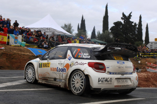 Hans Weijs (NLD) and Bjorn Degandt (BEL), Citroen DS3 WRC on stage 8. FIA World Rally Championship, Rd13, Rally de Espana, Salou, Catalunya, Spain, Day Two, Saturday 10 November 2012.