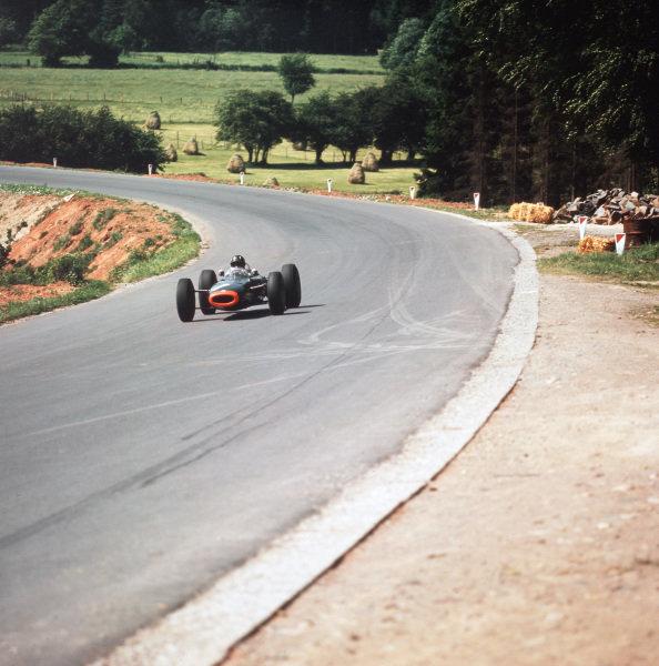 Spa-Francorchamps, Belgium.12-14 June 1964.Graham Hill (BRM P261) 5th position.Ref-3/1258.World Copyright - LAT Photographic
