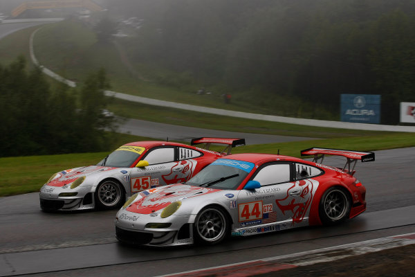 29-30 August, 2009, Bowmanville, Ontario, CanadaFlying Lizard Porsche team©2009, Michael L. Levitt, USALAT Photographic