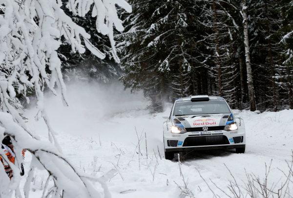 2013 World Rally Championship Swedish Rally 7th - 10th February 2013 Sebastien Ogier, VW, action Worldwide Copyright: McKlein/LAT
