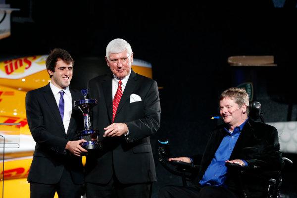 6 December, 2012, Indianapolis, Indiana, USA Indy Lights Champion Tristan Vautier.(c) 2012, Michael L. Levitt LAT Photo USA