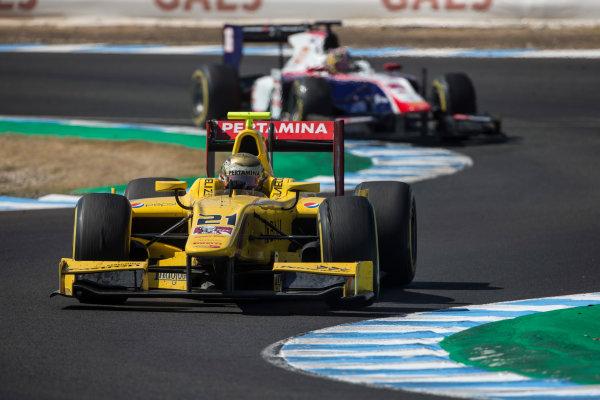 2017 FIA Formula 2 Round 10. Circuito de Jerez, Jerez, Spain. Saturday 7 October 2017. Sean Gelael (INA, Pertamina Arden).  Photo: Andrew Ferraro/FIA Formula 2. ref: Digital Image _FER1753