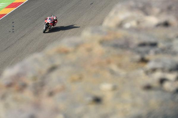 2017 MotoGP Championship - Round 14 Aragon, Spain. Saturday 23 September 2017 Jorge Lorenzo, Ducati Team World Copyright: Gold and Goose / LAT Images ref: Digital Image 13689