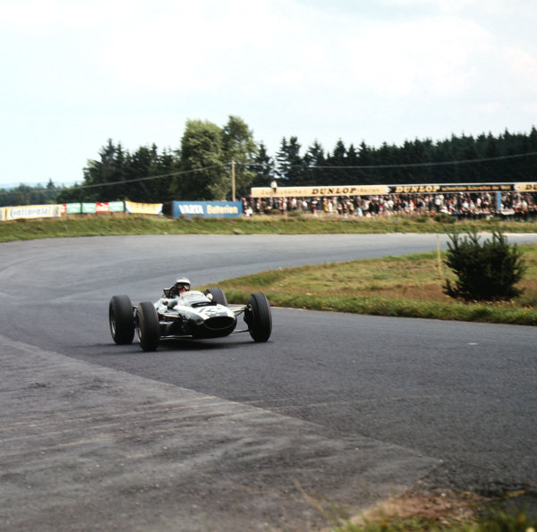 Nurburgring, Germany.30/7-1/8 1965.Jochen Rindt (Cooper T77 Climax) 4th position.Ref-3/1815.World Copyright - LAT Photographic
