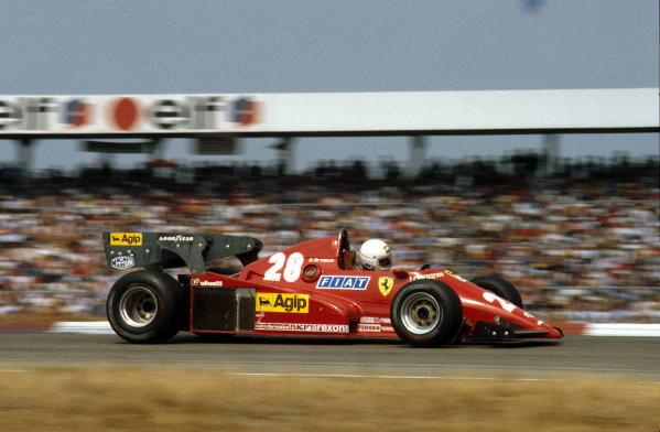 Hockenheim, Germany.5-7 August 1983.Rene Arnoux (Ferrari 126C2B) 1st position.Ref-83 GER 01.World Copyright - LAT Photographic